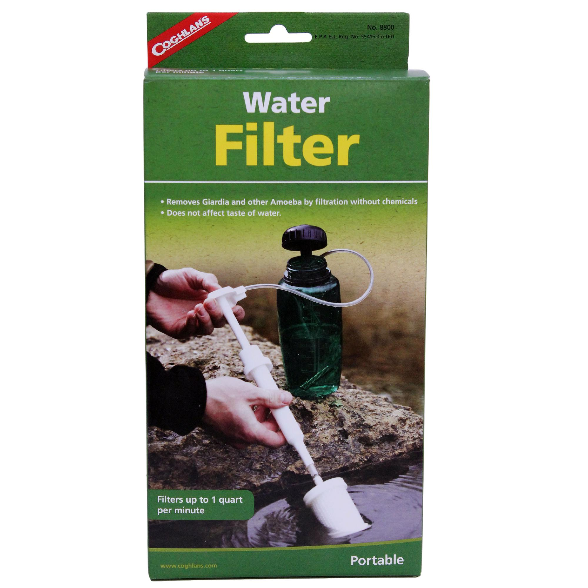 LIGHTWEIGHT WATER FILTER PUMP//STRAW UP TO 1 QUART PER MINUTE COMPACT COGHLANS